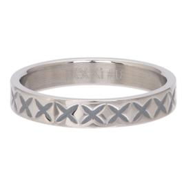 iXXXi Jewelry Vulring 4mm X Line Zilverkleurig