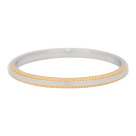 iXXXi Jewelry Double Gear Zilverkleurig/Goudkleurig 2mm