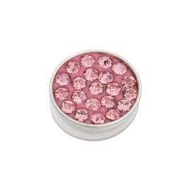 iXXXi Jewelry Top Part Pink Stone Zilverkleurig