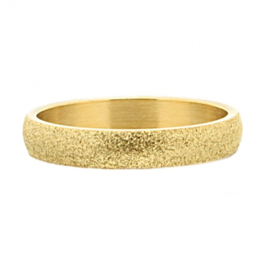 iXXXi Jewelry Sandblasted Goudkleurig 4mm