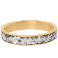 iXXXi Jewelry Vulring Glitter Confetti 4mm Goudkleurig