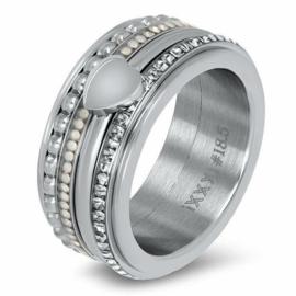 iXXXi Jewelry Basis Ring 10mm Zilverkleurig
