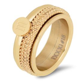 iXXXi Jewelry Basis Ring 8mm Goudkleurig
