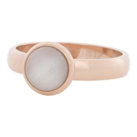 iXXXi Jewelry 10mm White Cat Eye Stone Rosé 4mm