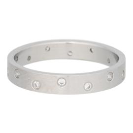 iXXXi Jewelry Zirconia 14 Steens Cristal Mat Zilverkleurig 4mm