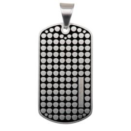 iXXXi Men Pendant Dog Tag Dots Mat Zilverkleurig
