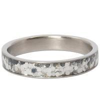 iXXXi Jewelry Vulring Glitter Confetti 4mm Zilverkleurig