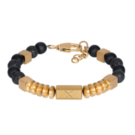 iXXXi Men Bracelet Fern Gold/Black