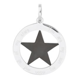 iXXXi Jewelry Hanger Ster Zwart Zilverkleurig ∅38