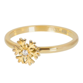 iXXXi Jewelry Vulring Snowflake 2mm Goudkleurig