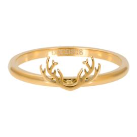iXXXi Jewelry Vulring 2mm Symbol Antlers Goudkleurig