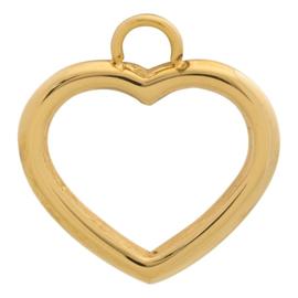iXXXi Jewelry Charm Open Hart Goudkleurig