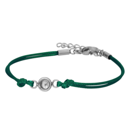 iXXXi Jewelry Top Part Bracelet Wax Cord Base Army Green