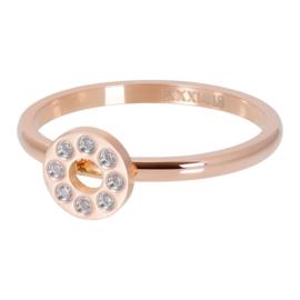 iXXXi Jewelry Vulring Flat Circles Crystal Stone 2mm Rosé