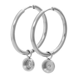 iXXXi Jewelry Top Part Creool 24mm Zilverkleurig