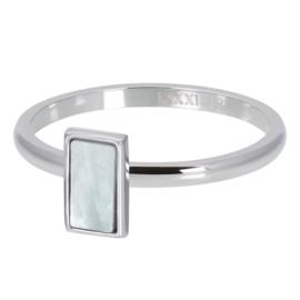 iXXXi Jewelry Vulring White Shell Stone 2mm Zilverkleurig