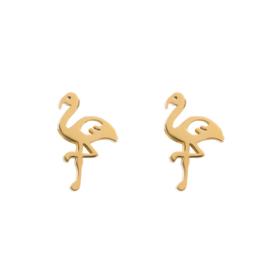 iXXXi Jewelry Ear Studs Flamingo Goudkleurig
