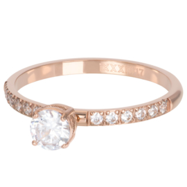 iXXXi Jewelry Losse Ring Queen 2mm Rosé