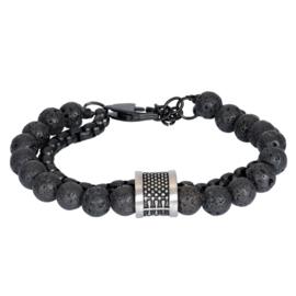 iXXXi Men Bracelet Nick Mat Zilver One Size