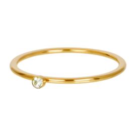 iXXXi Jewelry Vulring Green 1 Stone Goudkleurig 1mm