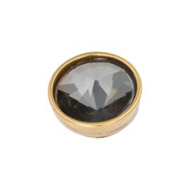 iXXXi Jewelry Top Part Pyramid Black Diamond Goudkleurig