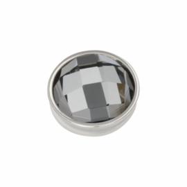 iXXXi Jewelry Top Part Facet  Black Diamond Zilverkleurig