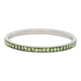 iXXXi Jewelry Zirconia Peridot Zilverkleurig 2mm
