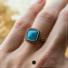 iXXXi Jewelry Losse Ring Summer Turquoise Rosé 2mm