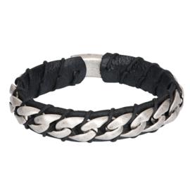 iXXXi Men Bracelet Alex Mat Zilver Zwart