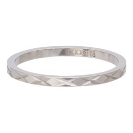 iXXXi Jewelry Vulring 2mm X Row Zilverkleurig