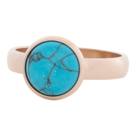 iXXXi Jewelry 12mm Blue Turquoise Stone Rosé 4mm