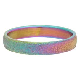 iXXXi Jewelry Vulring 4mm Sandblasted Rainbow
