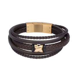 iXXXi Men Armband Elias Mat Goud