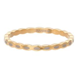 iXXXi Jewelry Vulring 2mm Oval Shape Goudkleurig