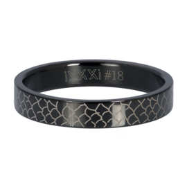 iXXXi Jewelry Vulring 4mm Black Snake Zwart