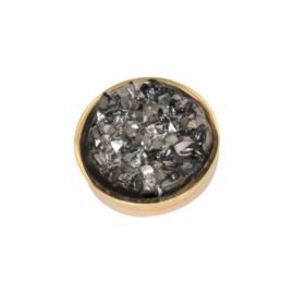 iXXXi Jewelry Top Part Drusy Dark Grey Goudkleurig