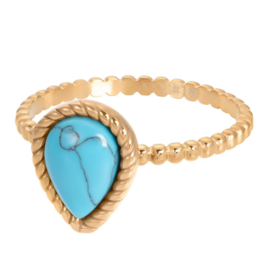 iXXXi Jewelry Vulring Magic Turquoise Gold