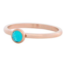 iXXXi Jewelry 1 Zirconia Water Blue Rosé 2mm