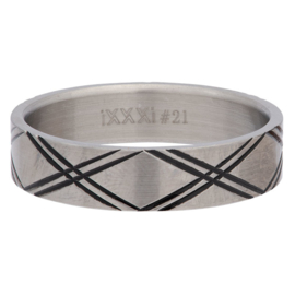 iXXXi Jewelry Men Double Line Mat 6mm