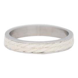 iXXXi Jewelry White Rope Zilverkleurig 4mm