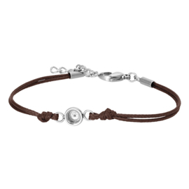 iXXXi Jewelry Top Part Bracelet Wax Cord Base Brown