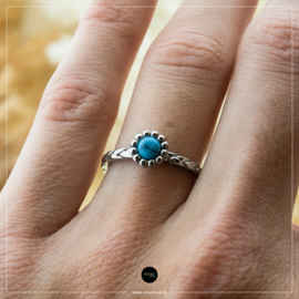 iXXXi Jewelry Losse Ring Inspired Turquoise Zilverkleurig 2mm