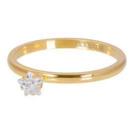 iXXXi Jewelry Vulring Star Crystal Stone 2mm Goud