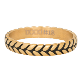 iXXXi Jewelry Leaf Knot Goudkleurig 4mm
