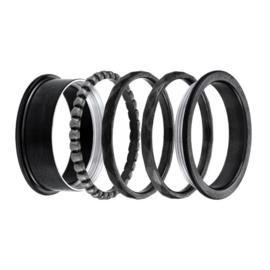 iXXXi Jewelry Basis Ring 8mm Zwart