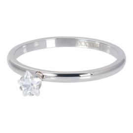 iXXXi Jewelry Vulring Star Crystal Stone 2mm Zilverkleurig