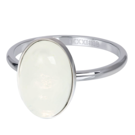 iXXXi Jewelry Losse Ring Royal Queen Drop White Zilverkleurig 2mm