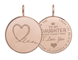 iXXXi Jewelry Pendant Daughter Love Big Rosé