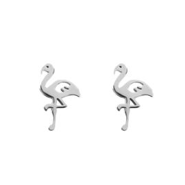 iXXXi Jewelry Ear Studs Flamingo Zilverkleurig