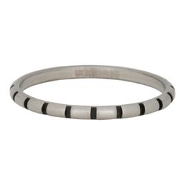 iXXXi Jewelry Stripes Ring Zilverkleurig 2mm